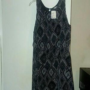 NWOT Black and gray print dress